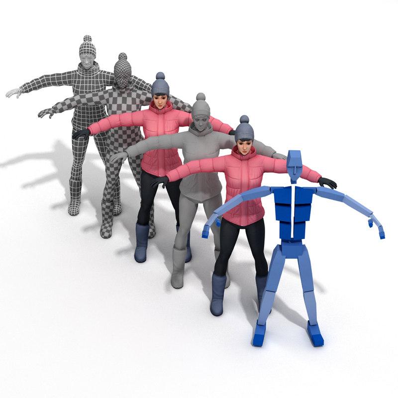 3d model skinning rig