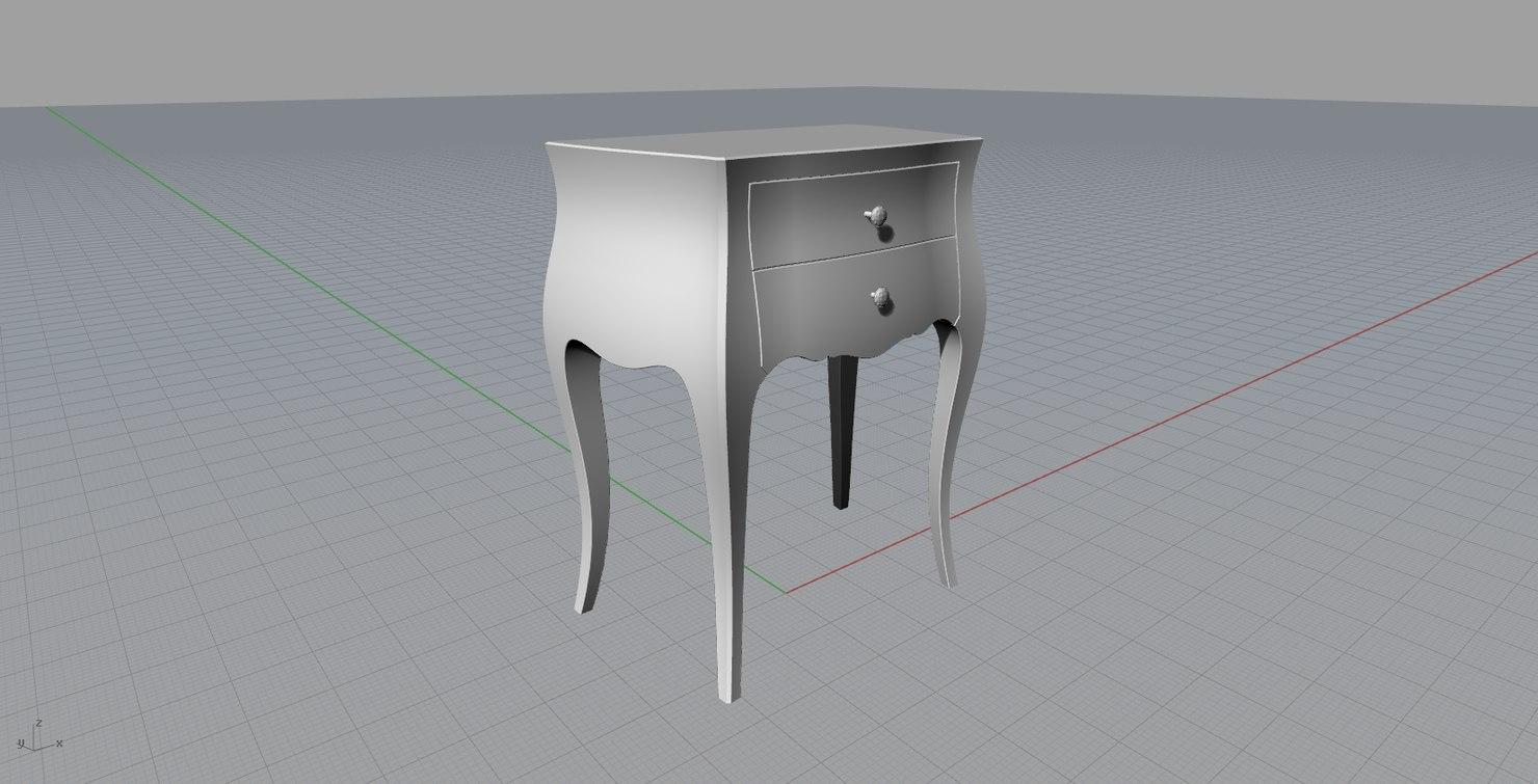 3d model moda concept 2 nightable