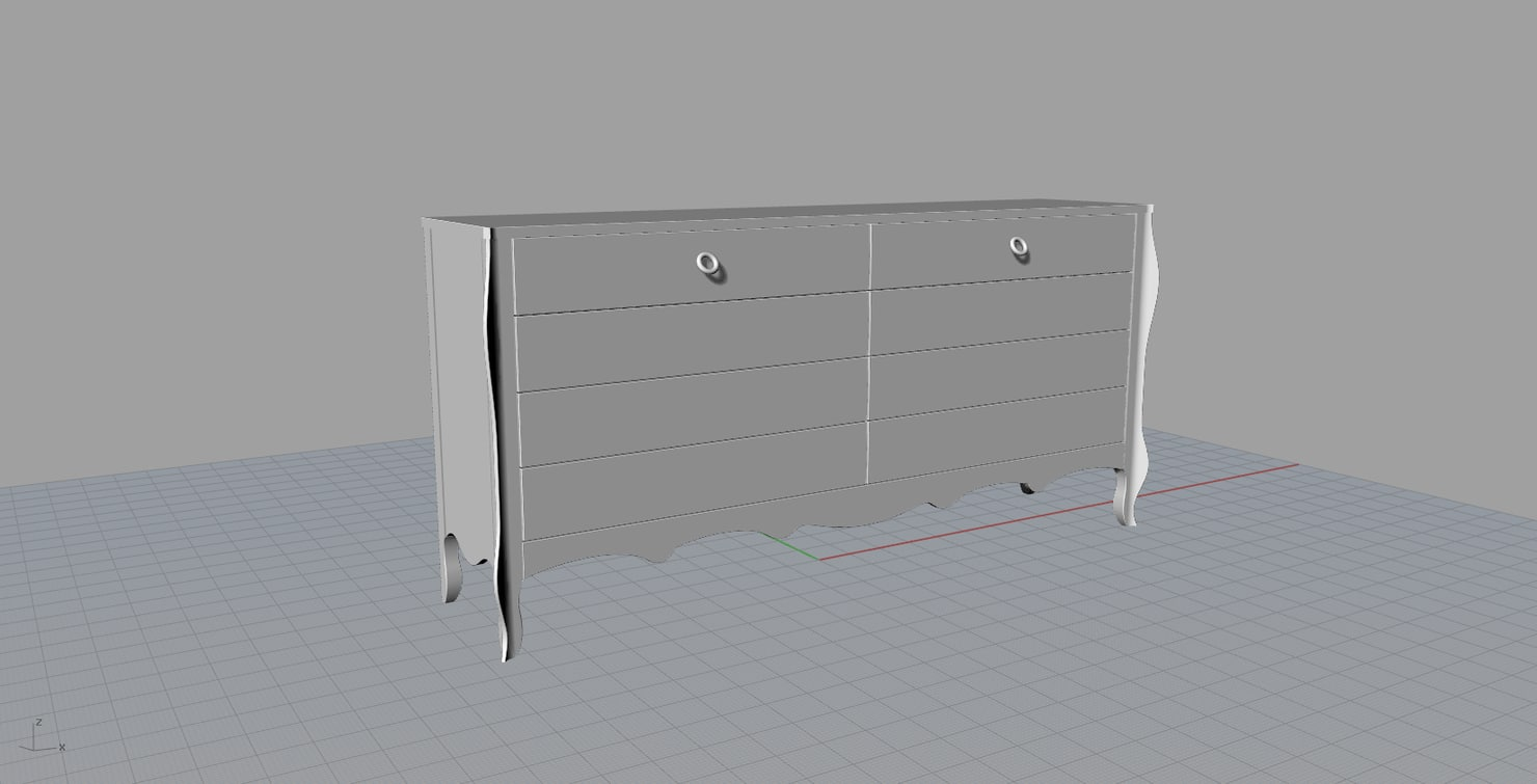 moda bemolle chest drawers 3d model