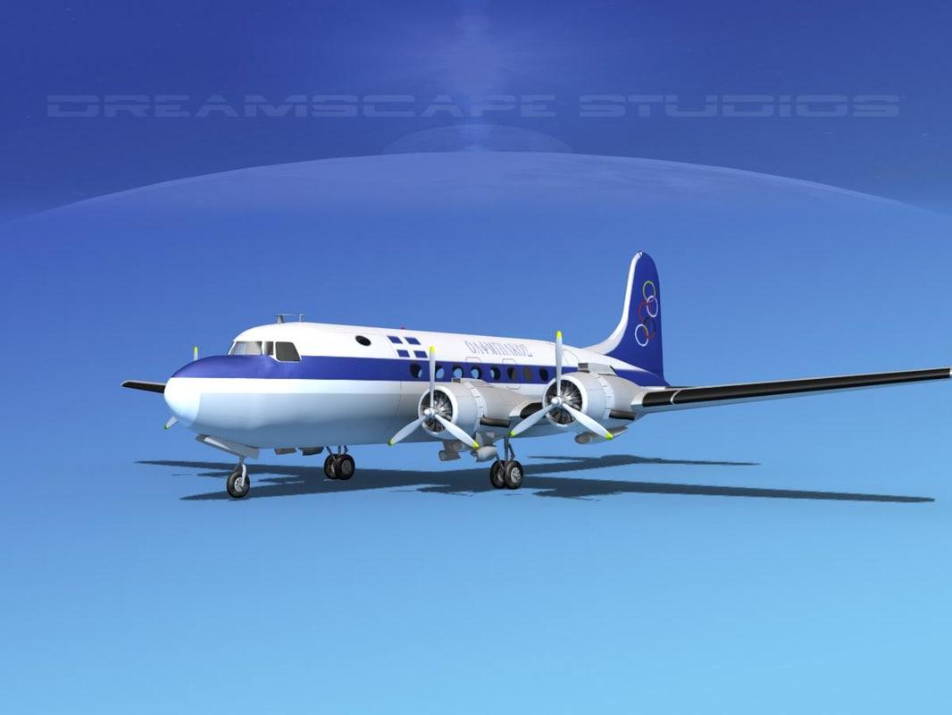 dc-4 propellers gear 3d dxf