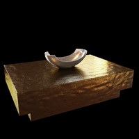 3ds table bowl arteriors brass