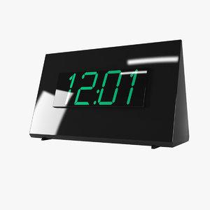 digital alarm clock 3d max