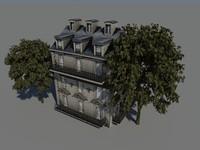 3d model hausmann facade