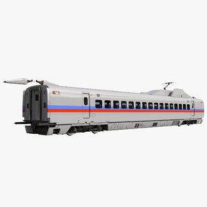 speed train passenger car 3d c4d