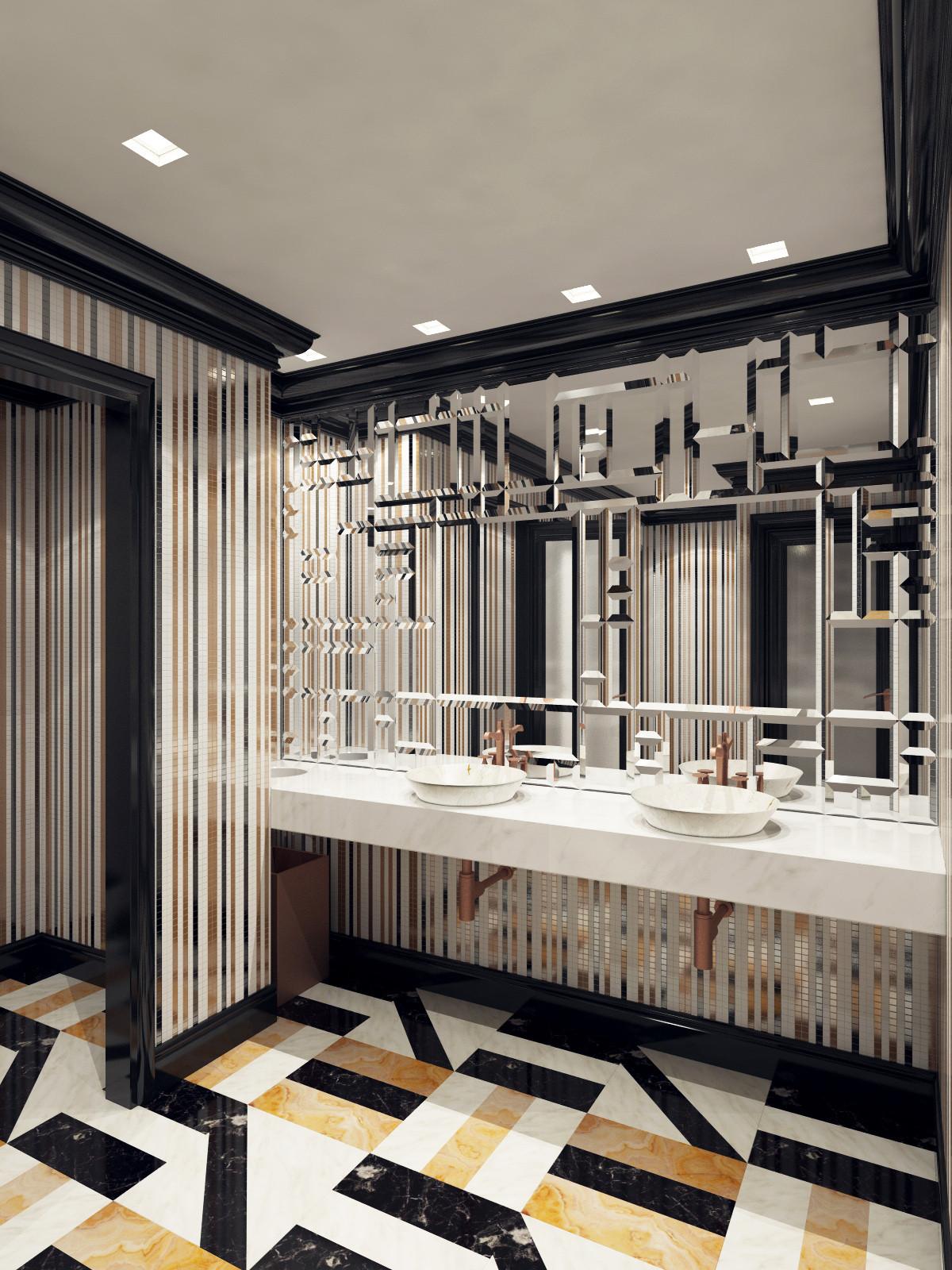 3d model washroom restaurant