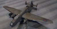 avro manchester bomber 3d model