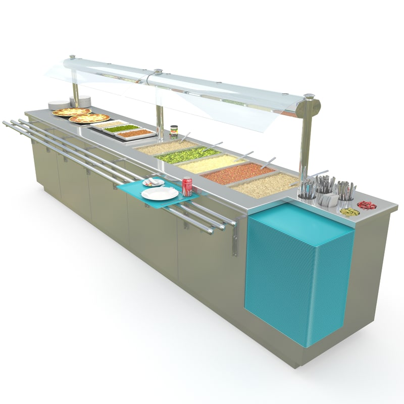 servery counter 3d model