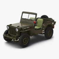 3d jeep willys m38