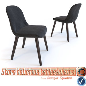 chair poliform mad 3d model
