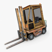 old forklift industrial 3d model
