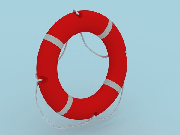 3d buoy life lifebuoy model