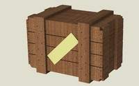 wooden box wood obj free