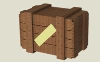 wooden box wood obj free