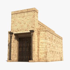 solomons temple 2 3d max