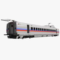 Speed Train Passenger Car Generic Rigged