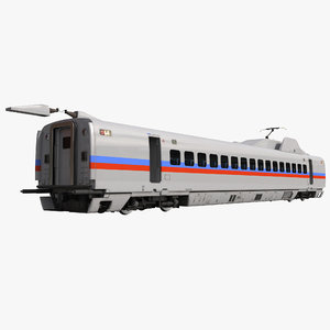 3d speed train passenger car model