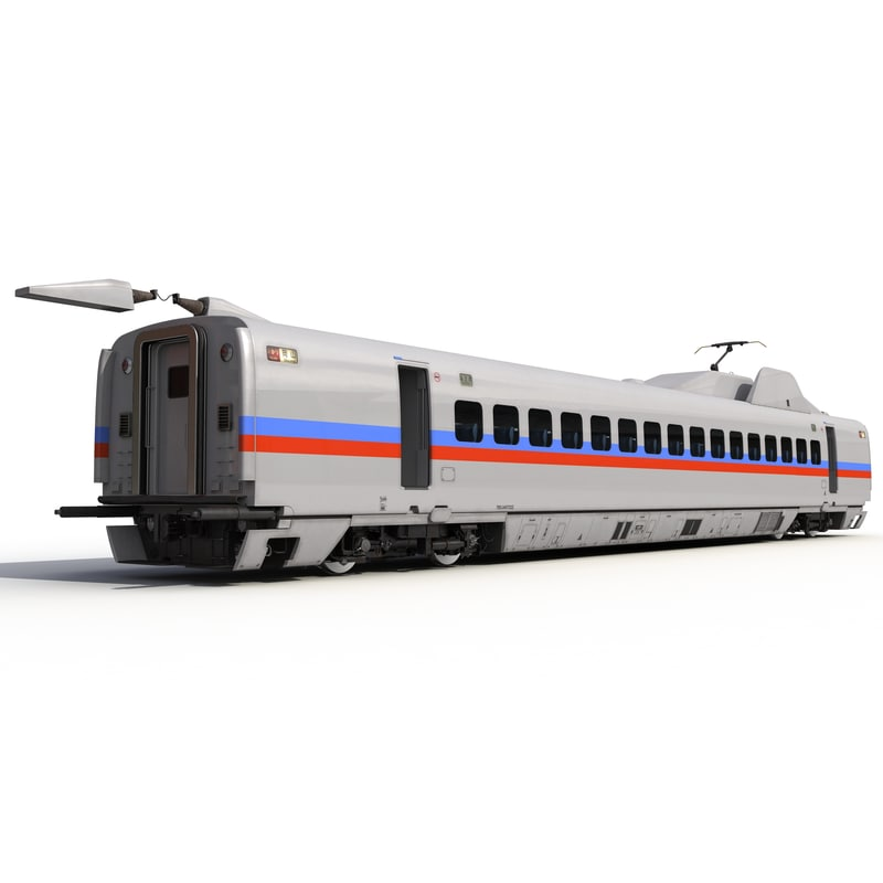 3d speed train passenger car model