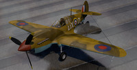 3d curtiss tomahawk rsaaf fighter aircraft model