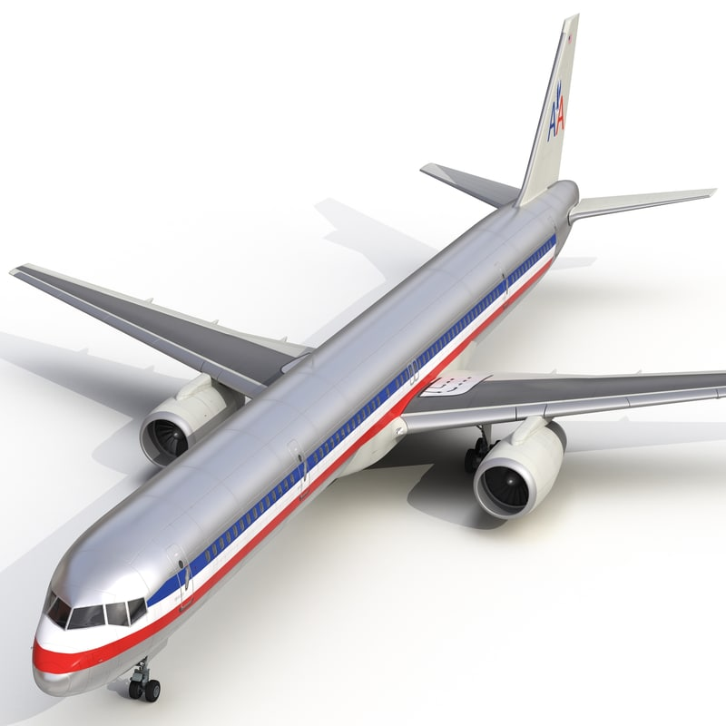 boeing 757-300 american airlines 3d max