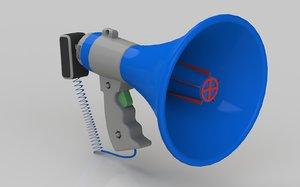bullhorn 3d model