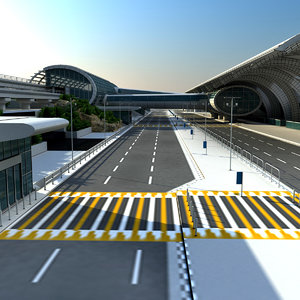 dubai airport terminal 3 3d model