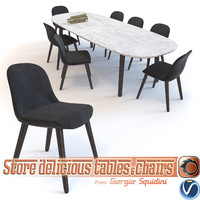 Chair & Table dinning Mad Poliform