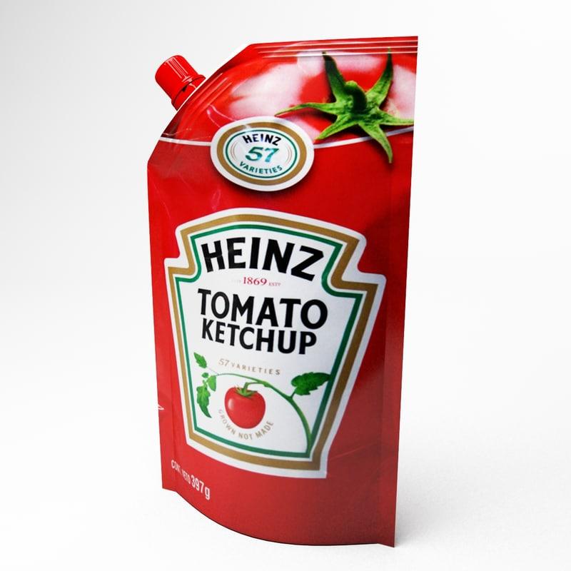 ketchup doypack 3d max