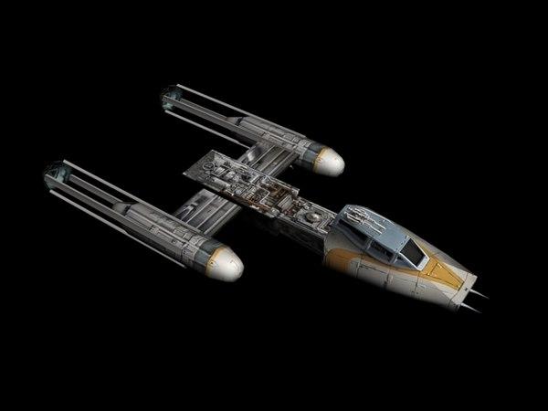 3d y-wing star wars