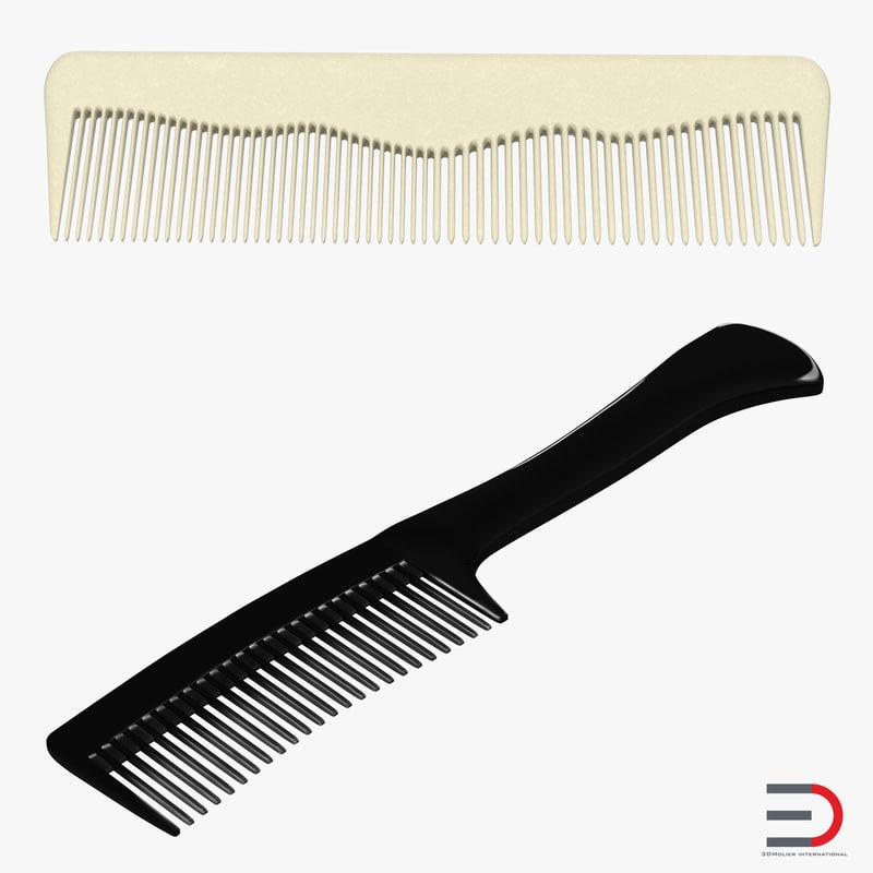3d combs set realistic