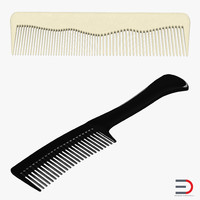 3d combs set realistic