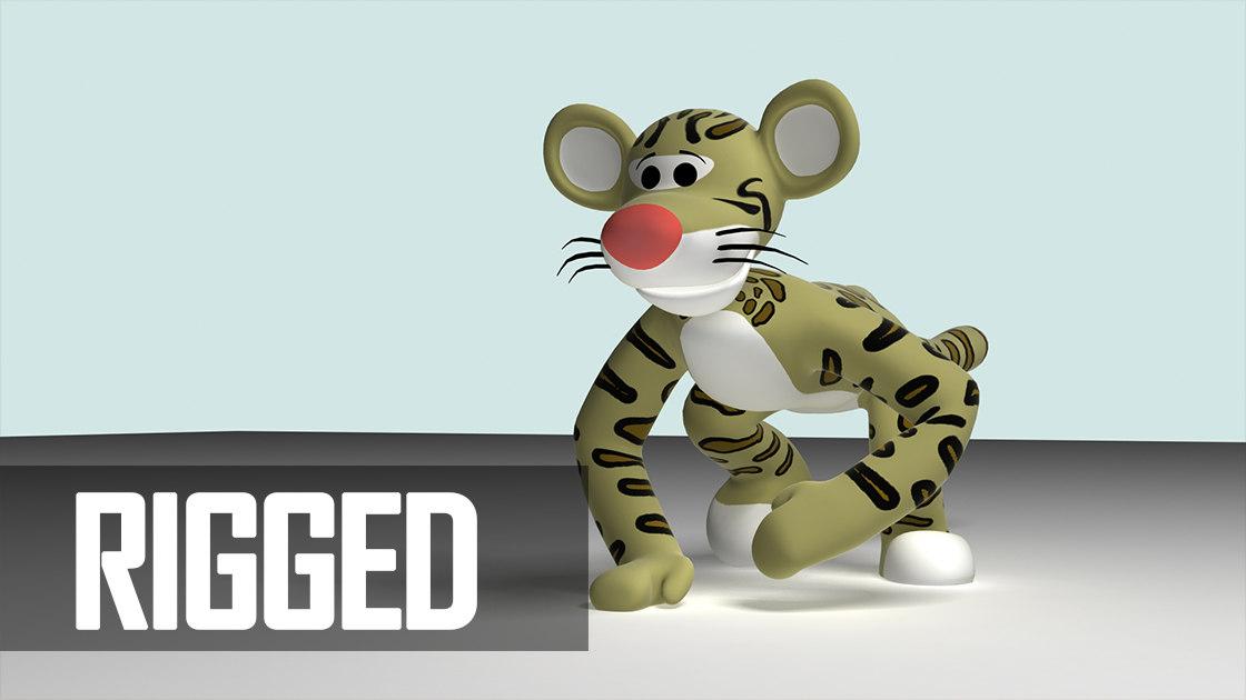 3d model feline cat