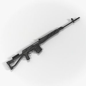c4d sniper rifle dragunov svds