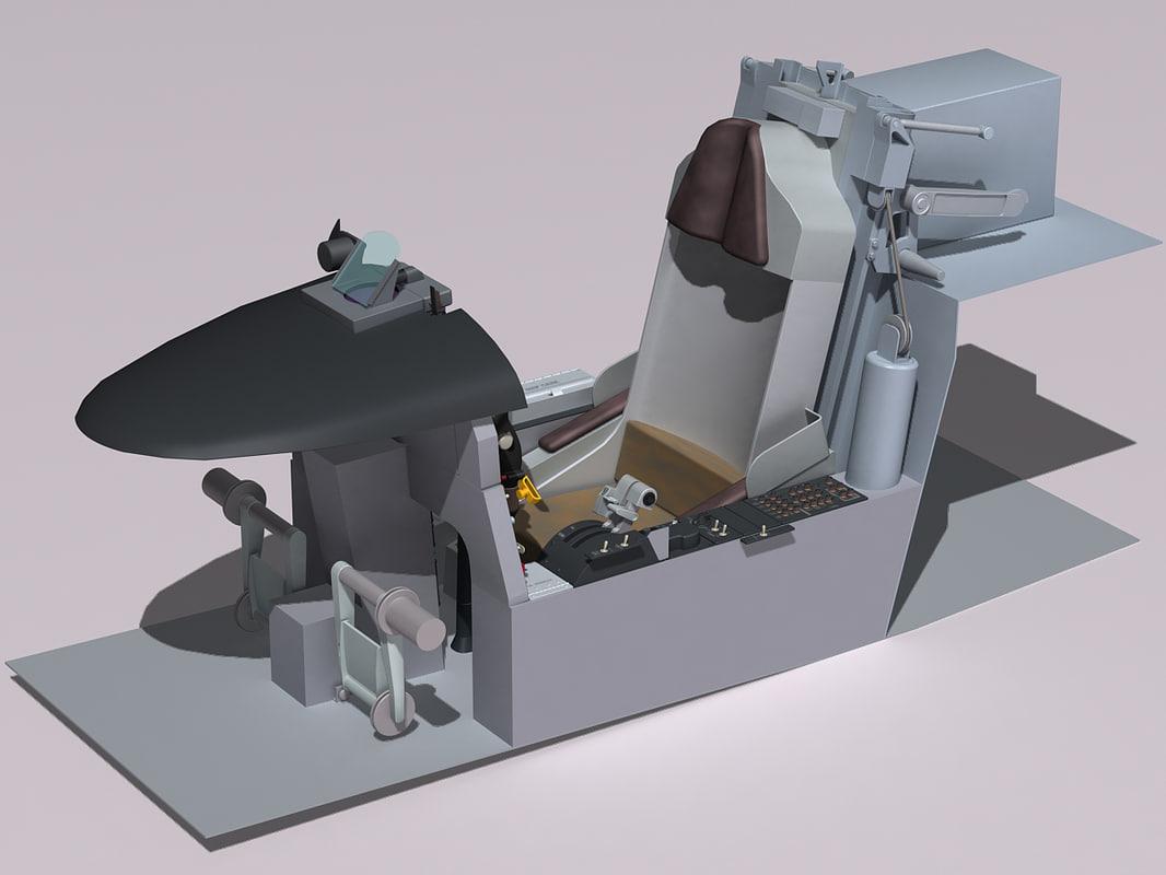 f-5e tiger cockpit 3d model
