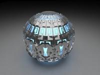 3d alien artifact