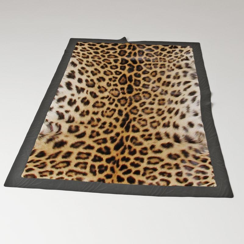 carpet leopard 3d model