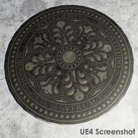 3d model pbr manhole cover