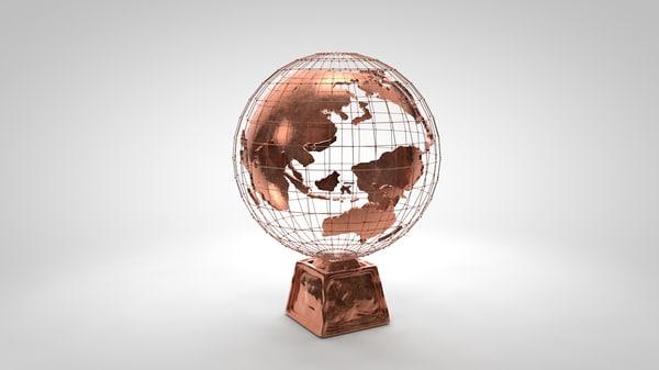 globe planet 3d c4d