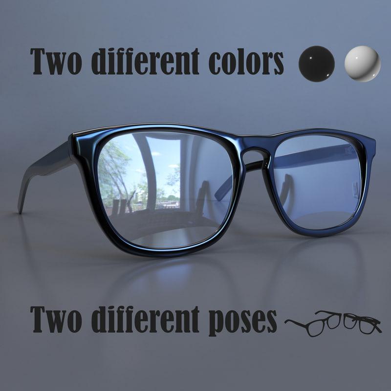 3d sunglasses frame corona model