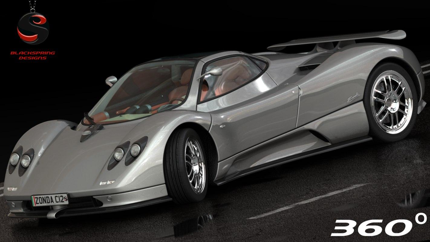 3d model of pagani zonda c12 2000