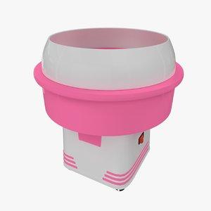 3d model cotton candy machine