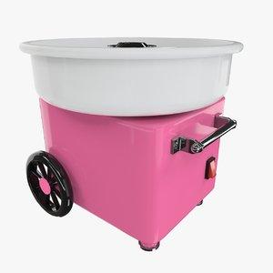 cotton candy machine 3d model