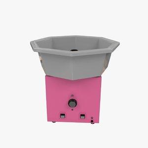 cotton candy machine obj