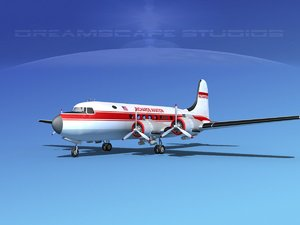 3d dc-4 propellers gear model