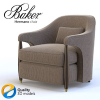 3d armchair baker model