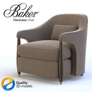 3d armchair baker model