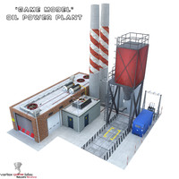 oil power plant 3d max