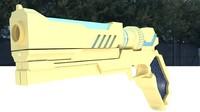 futuristic gun 3d blend