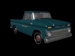 vintage truck 3d ma
