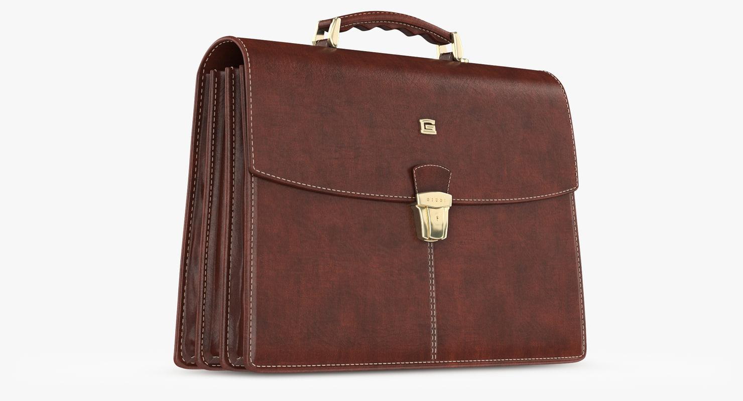 giudi leather classic briefcase max