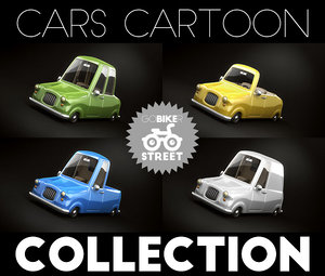obj car toon cartoon